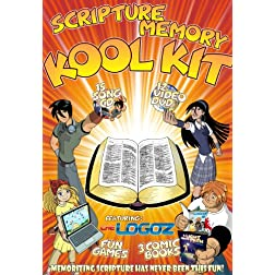 Scripture Memory Koolkit - Animated Music Videos on DVD, 15-Song CD, Comic Book, Games