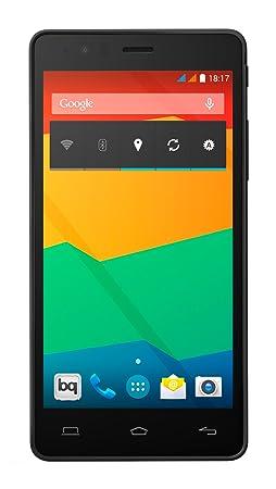 BQ Aquaris E5 HD-Smartphone de 5 pouces (3 g WiFi 802,11 b/g/n Bluetooth 4.0 NFC HCE GPS mémoire RAM 1GB mémoire interne 16GB noir reconditionné) (officiel)