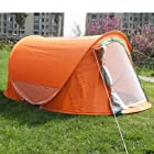 Orange Family Pop Up Backpacking Camping Hiking Tent Ez Setup-Automatic INSTANT