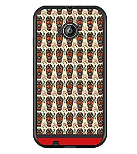 PrintDhaba Pattern D-1635 Back Case Cover for MOTOROLA MOTO E2 (Multi-Coloured)
