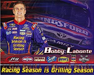 AUTOGRAPHED 2013 Bobby Labonte #47 Kingsford Charcoal Racing 8X10 SIGNED NASCAR Hero... by Trackside Autographs