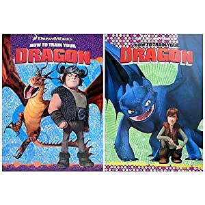 How to Train your Dragon Coloring and Activity Books (2 Books)