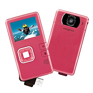 Creative Vado Pocket Video Cam VF0570 – Camcorder – 300 Kpix – pink
