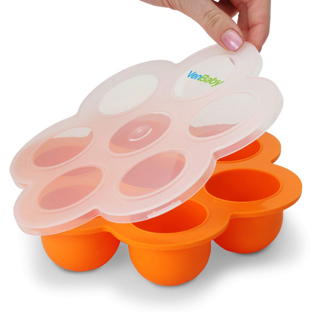 VenBaby Reusable Silicone Baby Food Storage Containers, Best Freezer Trays For Home-Made Baby Food
