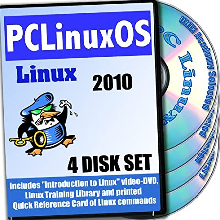 PCLinuxOS 2010.12 Linux, 4-discs Installation and Reference Set, Ed.2011