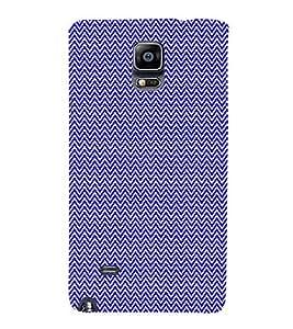Small Lines Chevron Blue Pattern Cute Fashion 3D Hard Polycarbonate Designer Back Case Cover for Samsung Galaxy Note Edge :: Samsung Galaxy Note Edge N915FY N915A N915T N915K/N915L/N915S N915G N915D
