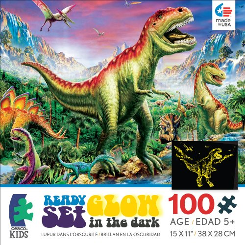 Ceaco Ready Set Glow Dinosaurs Jigsaw Puzzle