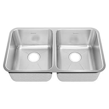 American Standard 14DB.311800.073 Prevoir 30.88-Inch Stainless Steel Undermount Double Bowl Kitchen Sink, Radiant Silk