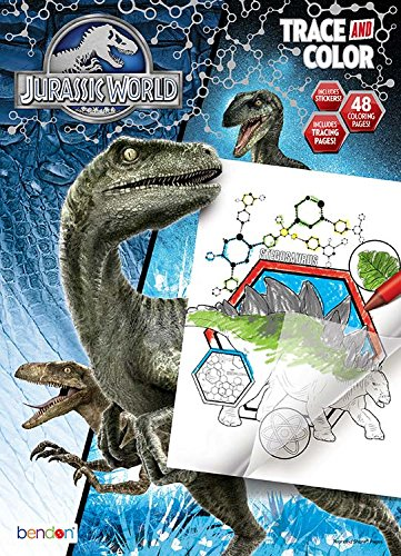 Bendon Jurassic World Color and Trace Playset