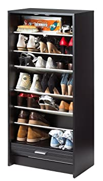 simmob shoot120no201 meuble chaussure panneau bois m lamin noir 36 1 x x 58 4 x 121 6. Black Bedroom Furniture Sets. Home Design Ideas