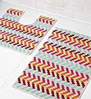 Colorado Striped Bath & Pedestal Mats