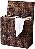 Sofia + Sam Oversized Divided Hamper with Liners, Espresso