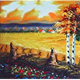 """Dolls Of India """"Countryside Farm"""" Reprint On Card Paper - Unframed (16.51 X 16.51 Centimeters)"""