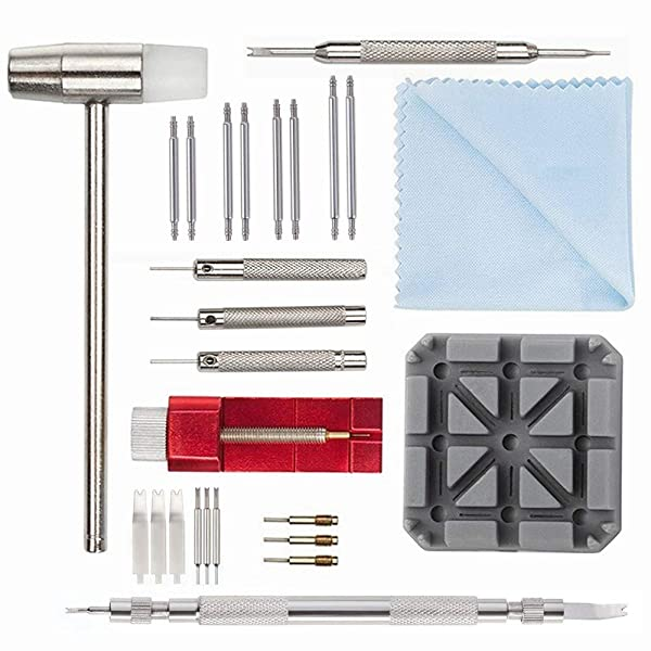 Watch Link Removal Tool Kit - Watch Band Strap Link Pin Remover Repair Tool Kit for Watchmakers (23pcs) (Tamaño: 23pcs)