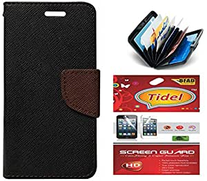 Tidel Premium Table Talk Fancy Diary Wallet Flip Cover Case for Letv Le 1S + Credit Card Holder & screen guard