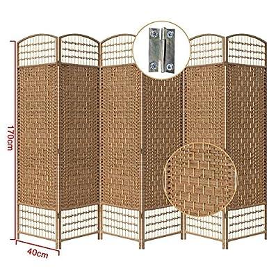 Yahee365 Raumteiler Trennwand Paravent 6tlg Umkleide Sichtschutz spanische Wand Metall