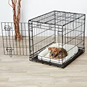 AmazonBasics Single-Door Folding Metal Dog Crate - Small (24x19x18 Inches)