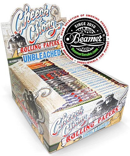 4-Packs-Cheech-and-Chong-King-Size-Unbleached-Cigarette-Rolling-Papers-50-Rolling-Papers-Per-Pack-Limited-Edition-Beamer-Smoke-Sticker-Used-with-Legal-Smoking-Herbs-Rolling-Tobacco-Herbal-Mixes