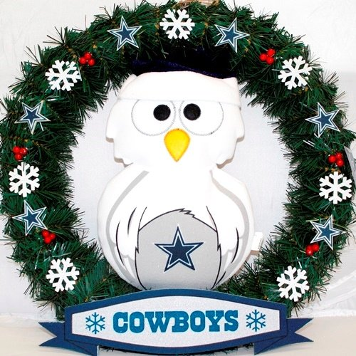 Dallas Cowboys NFL Holiday Owl 20'' Door Wreath at Amazon.com