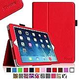 Fintie Apple iPad Air (2013) 専用保護ケース 超薄型 軽量 スタンド型カバー 高級PU レザー オートスリープ機能付き iPad Air (iPad 5) 専用 ( レッド)
