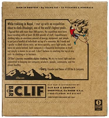 CLIF ENERGY BAR - Cool Mint Chocolate - (2.4 oz, 6 Count)