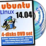 Ubuntu 14.04, 4-discs DVD Installation and Reference Set