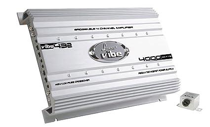 Lanzar VIBE432 Amplificateur de voiture 4 canaux Mosfet 4000 W