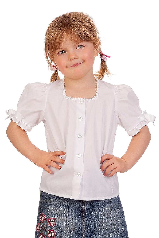 Trachten Kinder Dirndlbluse – SCHLEIFCHEN – weiß günstig kaufen