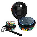 Title: Fintie Protective Carrying Case for Amazon Echo Dot 2nd Generation - Shock Proof EVA Cover Zipper Portable Travel Bag Box (Fits USB Cable and Wall Charger), Stained Glass