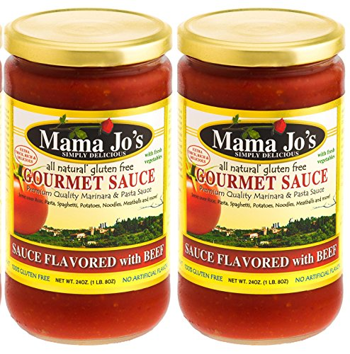 Mama Jo's Sauce with Beef Steak. Beef Stew. Beef Bolognese. Marinara Sauce with Beef. All Natural Gluten Free 2Pack - 24oz (Asian Spaghetti Sauce compare prices)