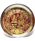 Divine Miracles Stainless Steel Meenakari Laxmi Ganesh Pooja Thali ( Multicolor )