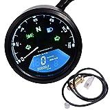 199 KMH MPH 12000 RPM LCD Digital Speedometer Tachometer Odometer Speedometer Oil Meter Multifunction With Night Vision Dial