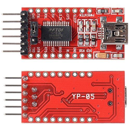 HiLetgo FT232RL FTDI USB to TTL Serial Adapter Module for Arduino Mini Port 3.3V 5.5V