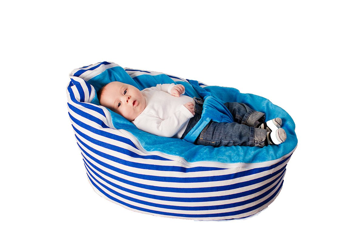 BayB Brand Baby Bean Bag - (Blue Stripe)