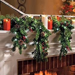 6 battery operated cascading garland with lights improvements