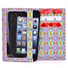 Kroo Bifold Tyvek Wallet with Smart Phone Compartment fits Nokia E63 Case - Colorful Burst