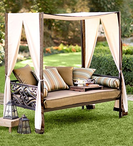 Outdoor Lounger With Canopy And Pillows, 41