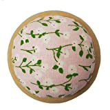 GAMESPFF Round Pin Cushion with Wooden Base and Printed Floral Fabric Coated for Daily Needlework (Pink 1) (Color: Pink 1)