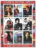 The secret world of James Bond 007 stamp sheet with 9 stamps for collectors - 2001 - Congo - never mounted and never hinged