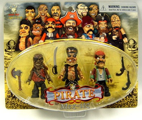 Buy Low Price Mezco Pirate Mez-itz: Rummy Joe, Goldmouth and Claude Kross Action Figure Set (B000KWOO5A)