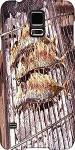 Snoogg Grilled Mackerel Scad Designer Protective Back Case Cover For Samsung ...