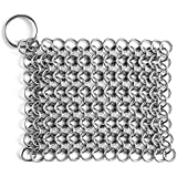 Linkcloth Chain Mail Scrubber for Cast Iron Cookware