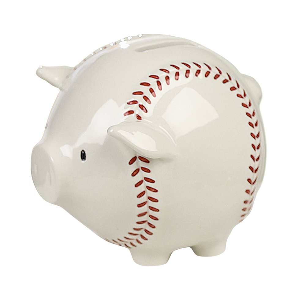 Grasslands Road Baseball Piggy Sports Bank