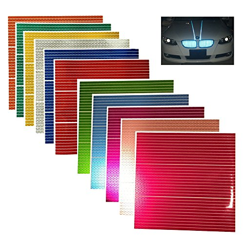"customTAYLOR33 High Intensity Reflective Straight Strips - (33) 12"" strips (Many Colors) (Red)"