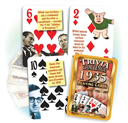 1935 Trivia Playing Cards 81st Birthday or 81st Anniversary Gift - 1