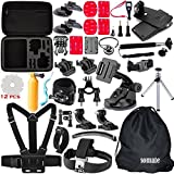 Somate-50-in-1-Outdoor-Essential-Accessory-Kit-for-Gopro-Hero-4-Hero-4-Session-Hero-3-321-Silver-Black-Accessories-Bundles-Set-for-Xiaomi-Yi-Rollei-Actioncam-SJCAM-SJ4000-SJ5000-SJ6000-SJ7000
