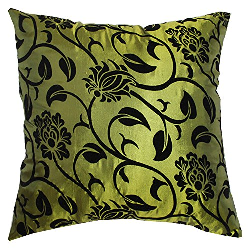 square-bed-silk-pillow-throw-case-cushion-cover-decorative-sofa-couch-green