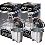 Ekobrew Stainless Steel Refillable K-Cup for Keurig Brewers, 5.7-Ounce, 2-Count