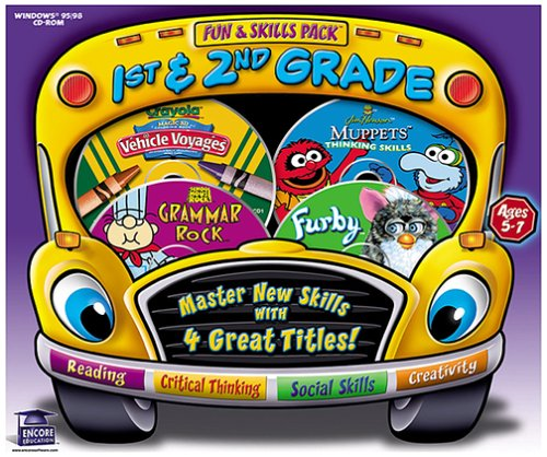 Fun & Skills Pack Ages 5-7 (Muppets, Furby, Crayola, Schoolhouse Rock)