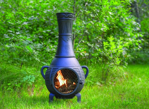 Outdoor-Chimenea-Fireplace-Pine-in-Charcoal-Finish-Gas-Fueled